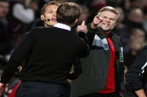 Steven Pressley clashed with Bradford manager Phil Parkinson in a heated affair at Valley Parade.