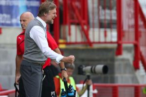 Pressley in action on a frustrating afternoon in Crawley.
