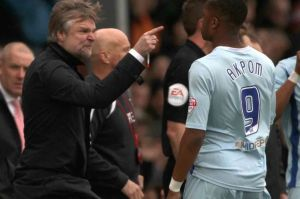 Tempers flared from Steven Pressley as the team failed to hold onto a lead at Brentford