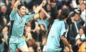 Robbie Keane in action for Coventry against Watford. (Not pictured, me watching this game as a kid)