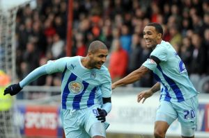 Callum Wilson and Leon Clarke combined superbly to see of Sheffield United at Sixfields.