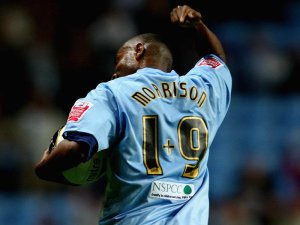 Clinton Morrison profoundly making the statement 'it's what you do with a squad number that matters'