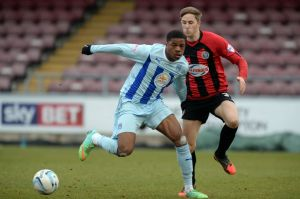 Chuba Akpom 'gracing' Coventry City fans with his 'presence' against Shrewsbury.