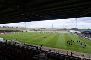 The scene for the final Saturday fixture for Coventry City at Sixfields.