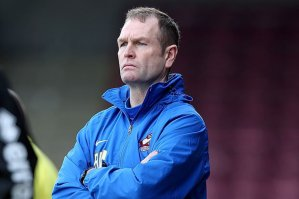 Russ Wilcox's job is on the line ahead of this evening's fixture.
